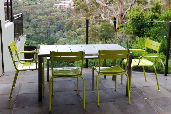 Silla Muebles de exterior de aluminio de Alumium apilable – Silla ...
