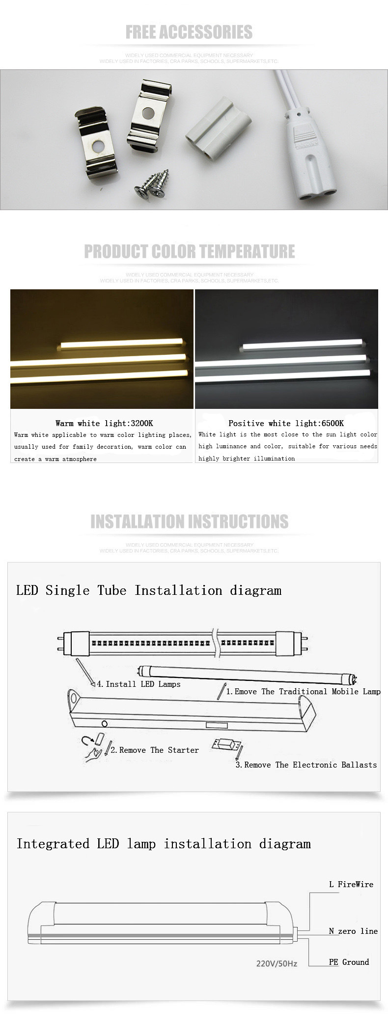 China Supplier T8 Led Tube Lighting 600mm 900mm 1200mm Light Wiring Diagram For Contact Us