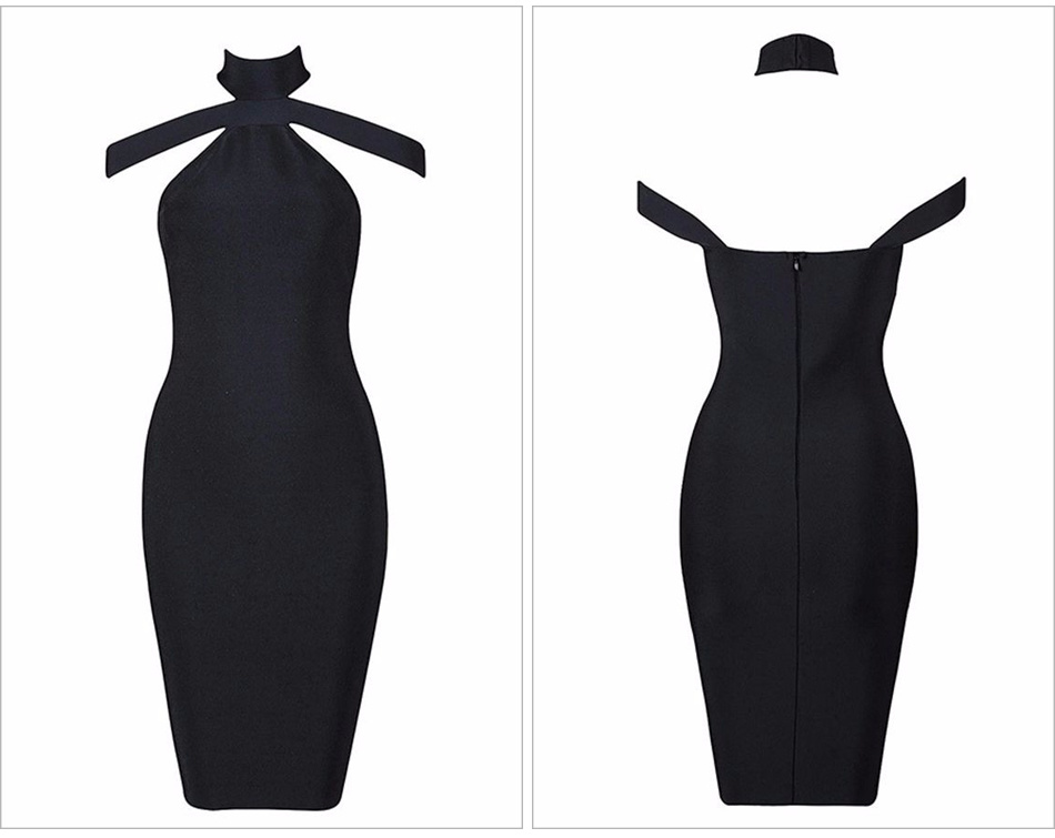 3ddfdd421e New Winter Fashion Sexy off Shoulder Dress Halter Bandage Dress ...