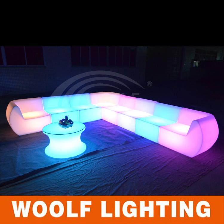 Sof de pl stico ao ar livre m veis de led para venda sof for Sofa plastico exterior