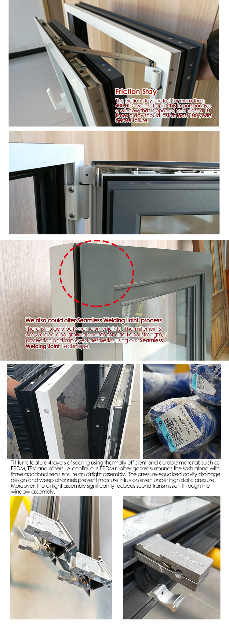 Black White Thermal Break Aluminum Window - China Aluminium