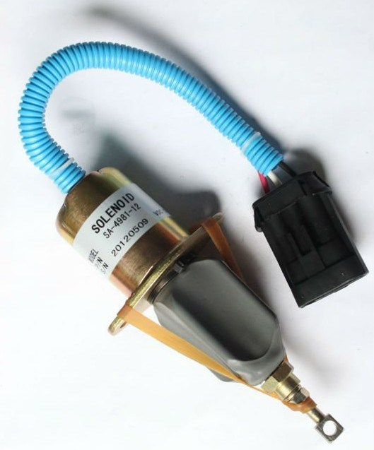 94-98 Dodge 5 9 5 9L Cummins 12V Fuel Shut off Valve SA-4981-12 Solenoid  for Excavator Spare Parts