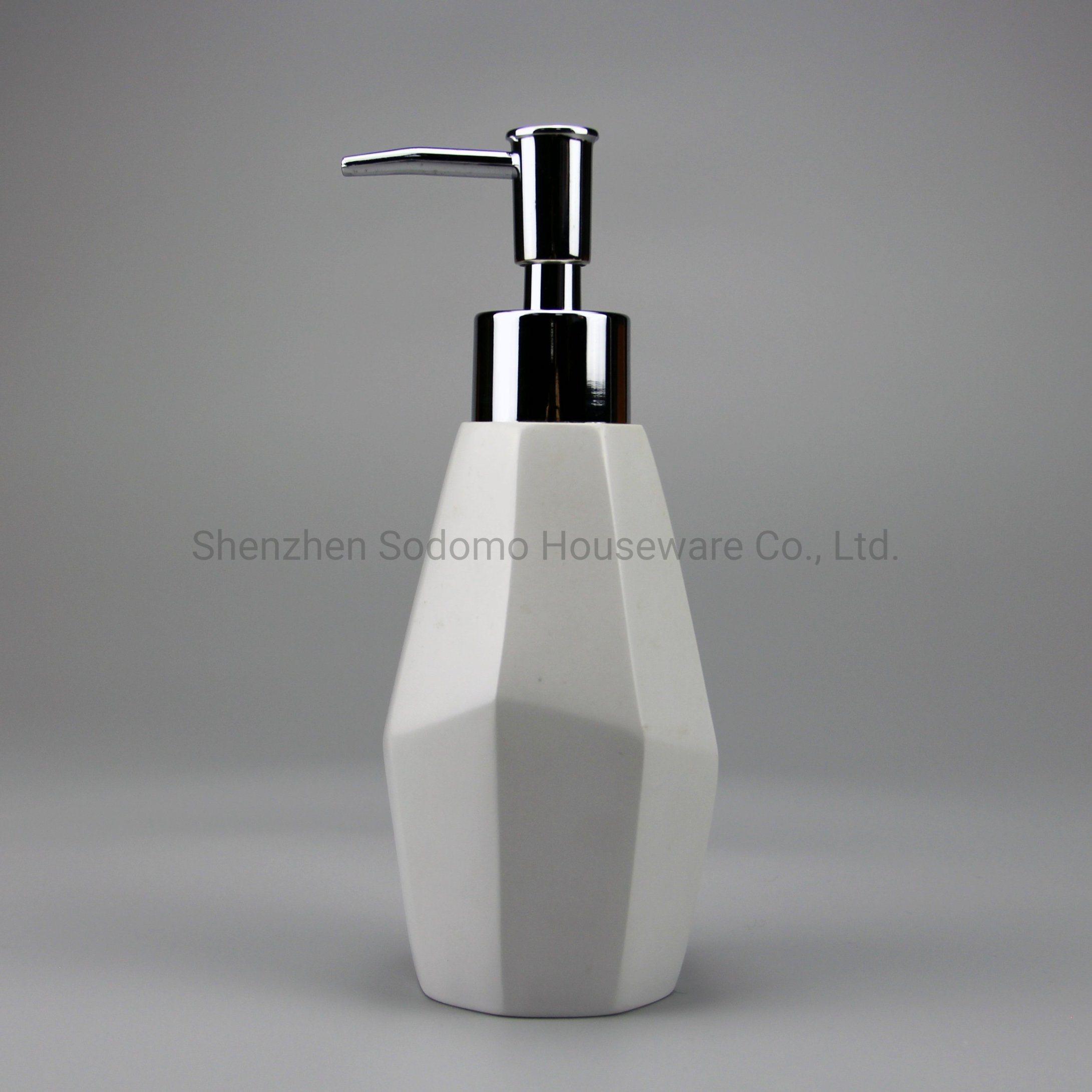 Top Selling Modern Houseware Imitated Stone Soap Dispenser Bp2451 Wp China Bathroom Set Bathroom Accessory Made In China Com