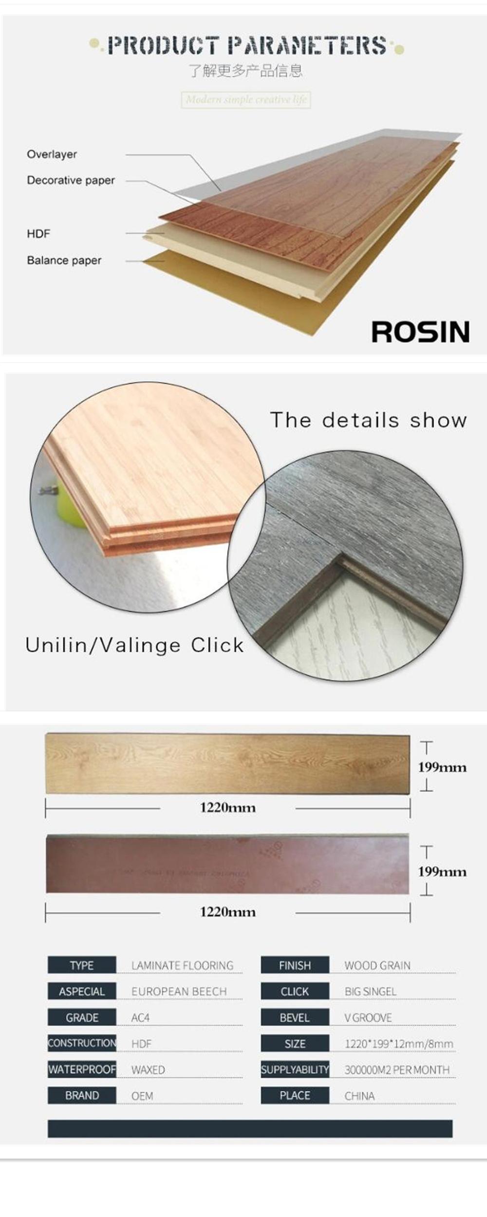 Geometric Style Laminate Wood Flooring, Laminate Wood Flooring Thickness