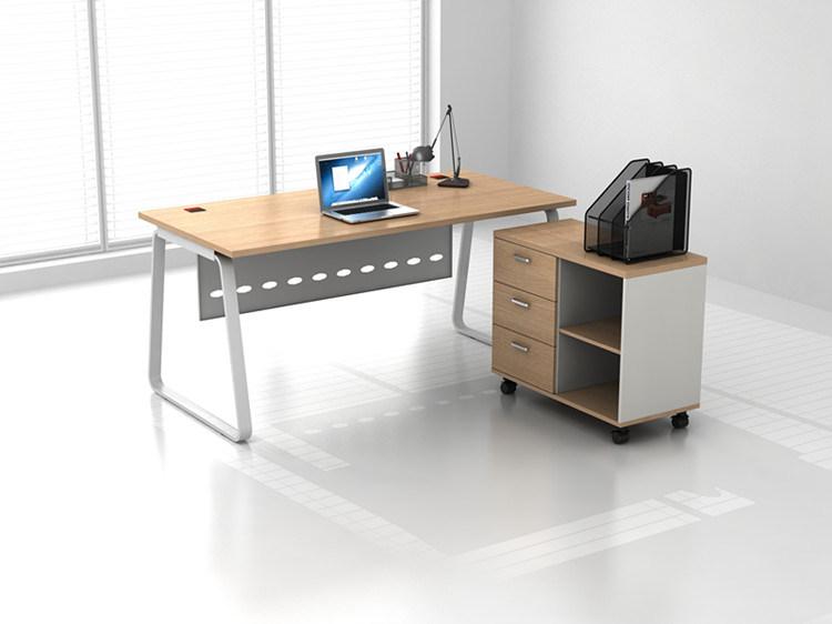 Mobili rio de escrit rio de madeira na perna de metal mesa for Mobiliario de escritorio fabricantes