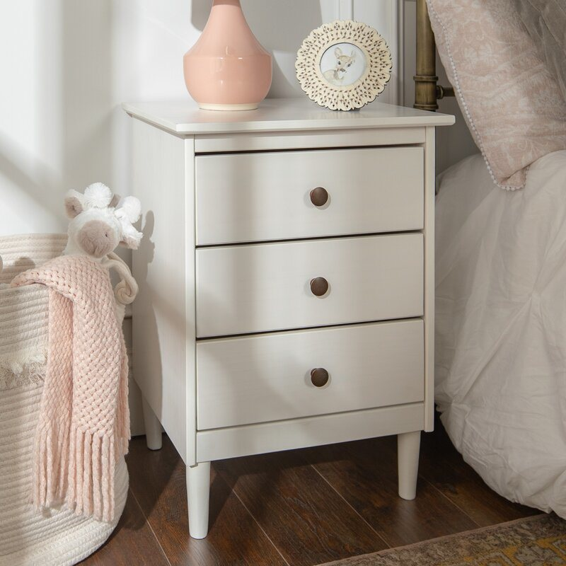 Mirrored Furniture White Bedside Table Solid Wood 3 Drawer Nightstand Bedroom Furniture China Mirrored Furniture Bedside Table Made In China Com