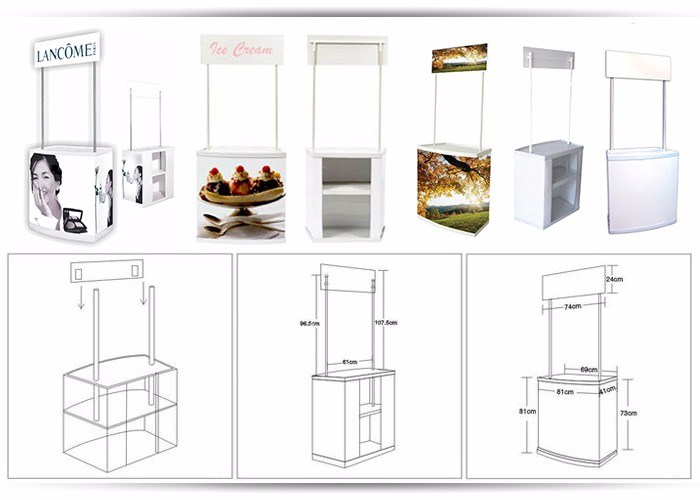 Hot Sale Advertising Promotion Table Portable Counter