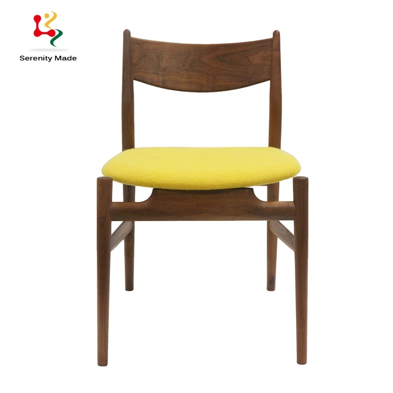 Simplicity Wooden Frame Chair Fabric Seat Cover Restaurant Dining Chair China Fabric Upholstered Chair Restaurant Dining Chairs Made In China Com