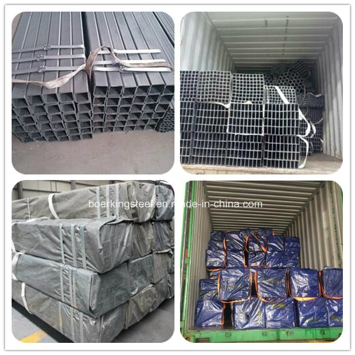 Hot Dipped Galvanized Welded Rectangular / Square Steel Pipe / Tube / Hollow Section / Shs / Rhs