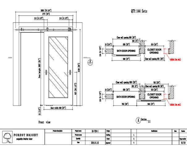 Forest Bright Shop Drawing Of Mirror Sliding Barn Door