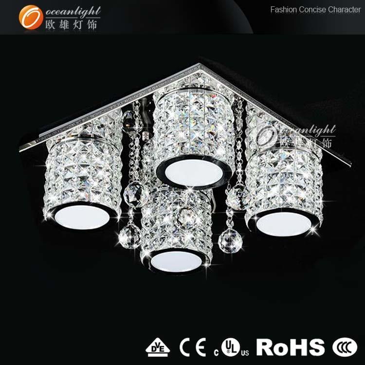 Modernos led l mpara de techo de cristal para el sal n la - Lamparas de techo redondas ...