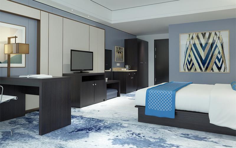 Los huéspedes del Hotel de lujo en la última cama tamaño King Juego ...