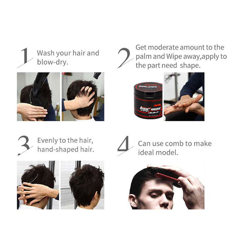 Oem Men Hair Styling Products Edge Control Good Holding Effect Hair Wax China Hair Wax And Oem Price Made In China Com