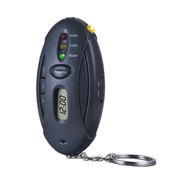 Breathalyzer Alcohol Tester with Torch/Flashlight and Key Chain Alcotesters (MTAT03)