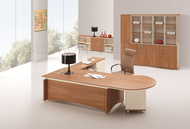 Bureau de bureau en bois bureau ex cutif moderne bureau - Bureau en bois moderne ...