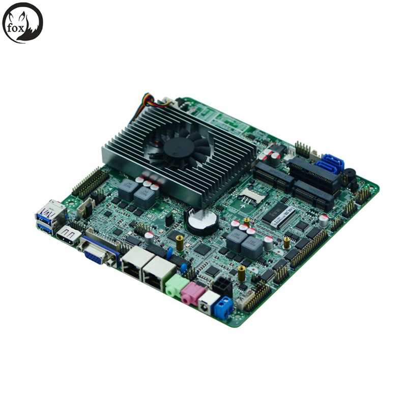 2018 Intel I3 I5 I7 Dual Ethernet Thin Client Laptop Motherboard Mini Itx  Laptop Motherboard Support Digital Signage