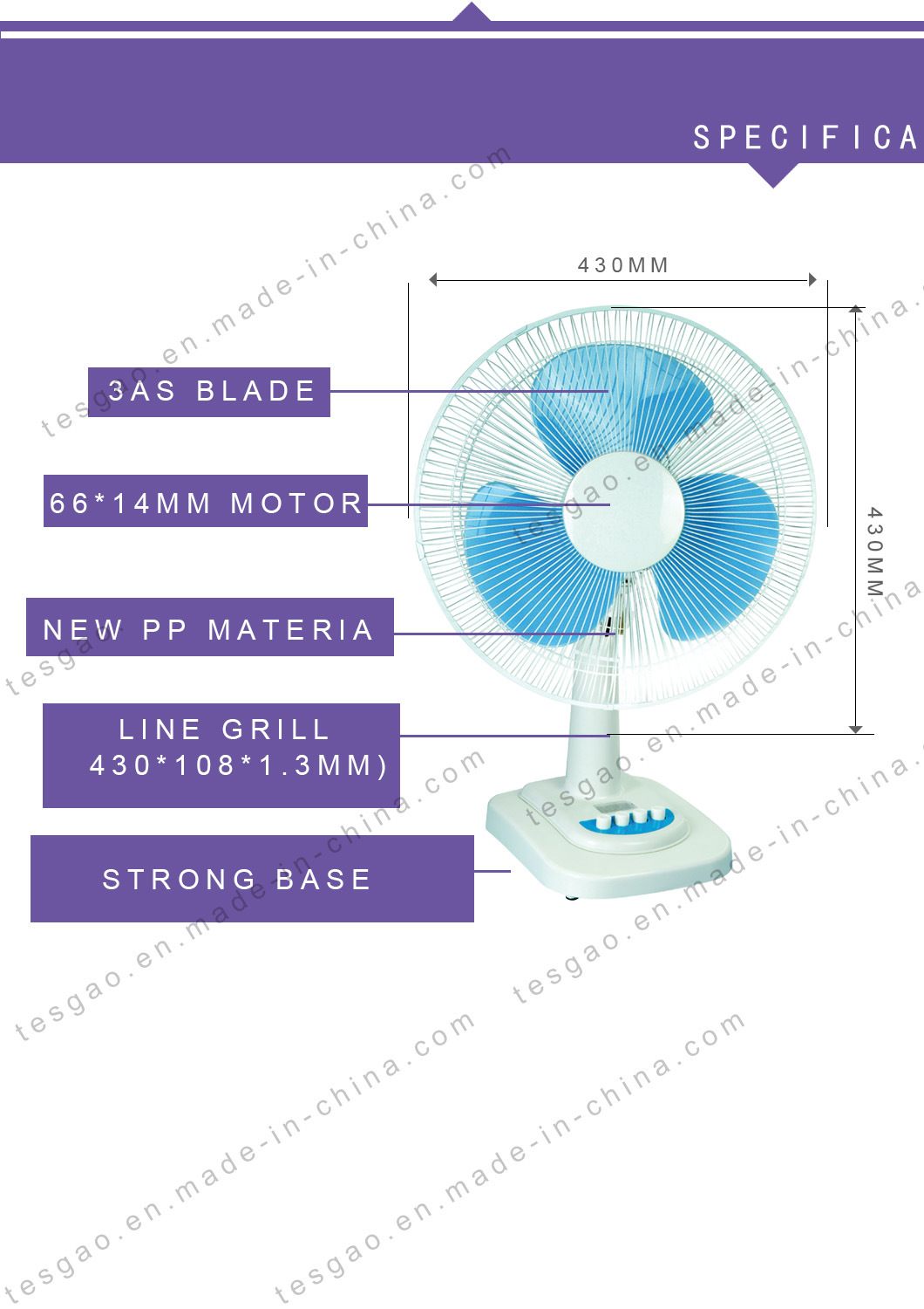 Hot Sales Competitive Price 16 Inch Table Fan Ft 1612 China Diagram All Picture Features Of Our Products
