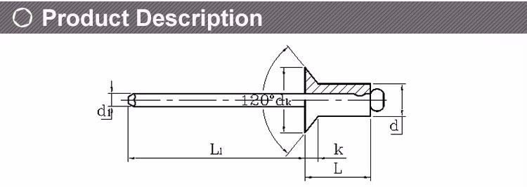 Aluminium Steel Open Type Round Head Blind Rivet Open Type Countersunk Head  Blind Rivet