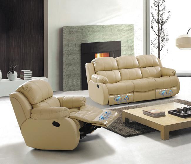 Sofá de cuero eléctrico moderno sillón reclinable sillón reclinable ...