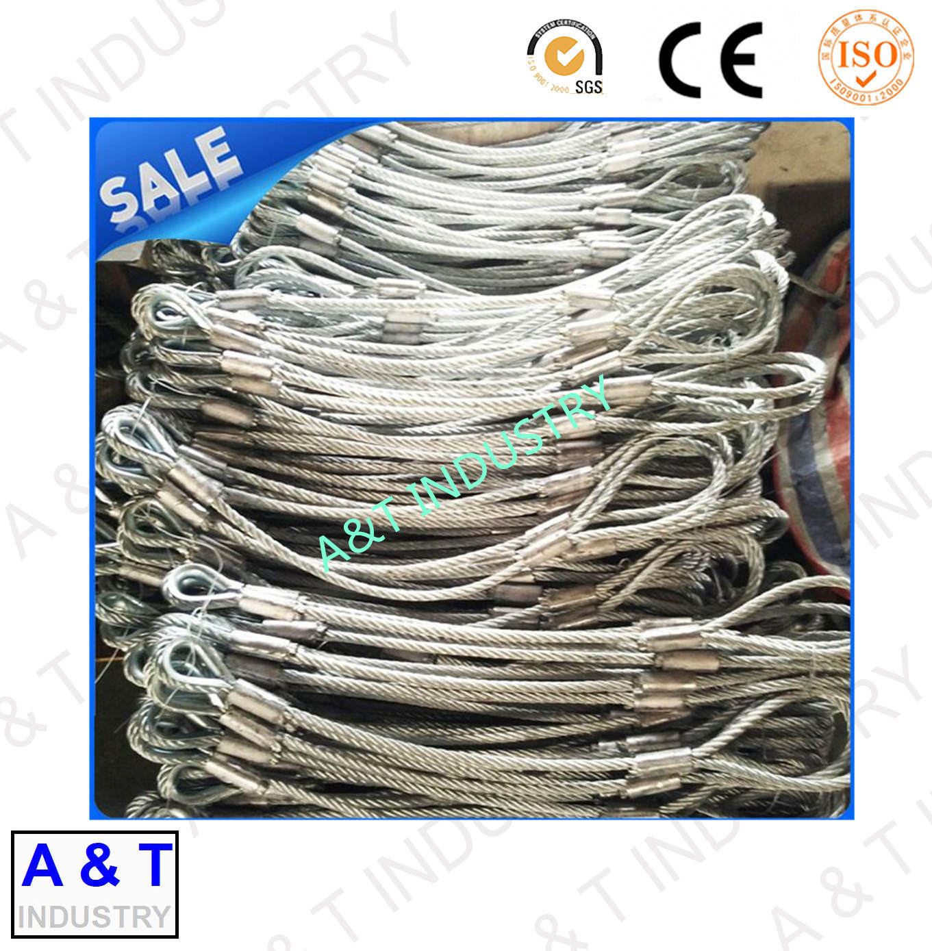 Rigging Sling Rope Soft, Spliced Wire Rope, Double Loop Rope - China ...