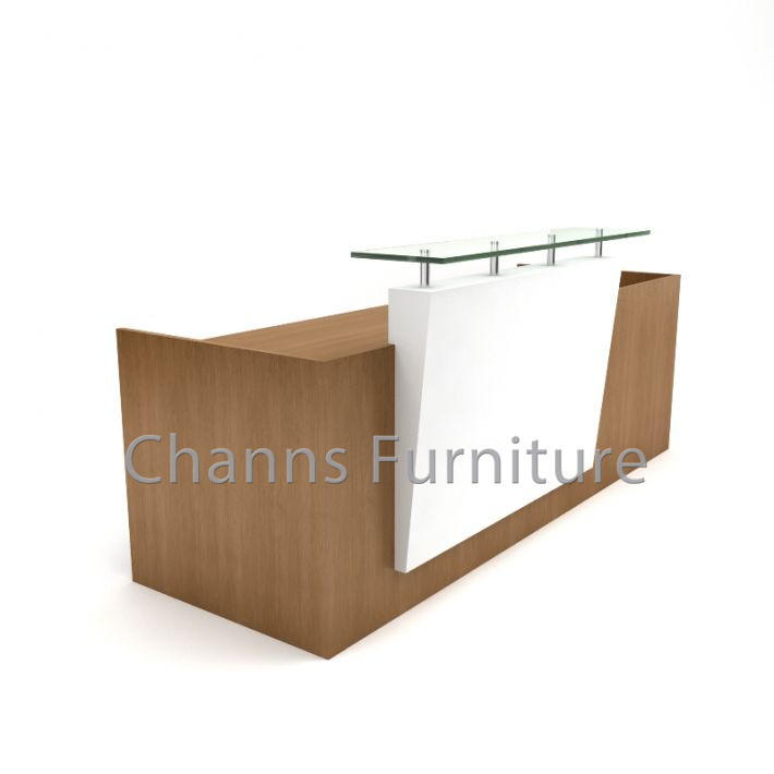 huge discount 4eb35 851d6 [Hot Item] Modern Furniture Beauty Salon White Reception Desk Office  Counter Table with Glass (CAS-RD604)