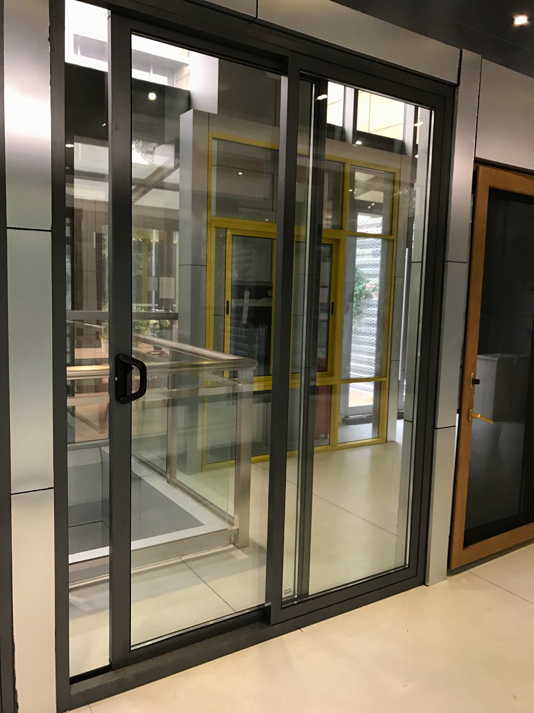 This Sliding Door System Designed For Corridors Design 1 Use Oblique Cutting Method To Cut Sashes With Trapezoid