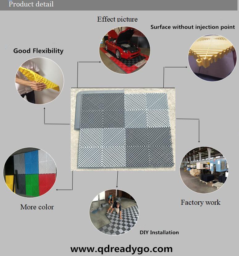 Commercial Plastic Flooring Grating for Car Wash Room