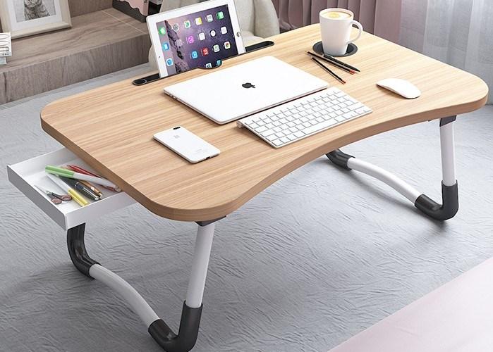 Molding Folding Laptop Table, Portable Folding Computer Desk Laptop Table Workstation Furniture