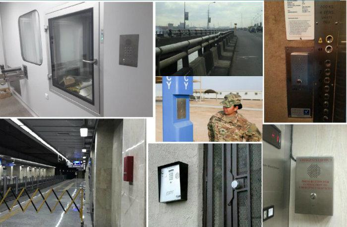Analog Clean Room Telephone, Flush Mounted Handsfree Sos Intercom for  Elevator, Metro