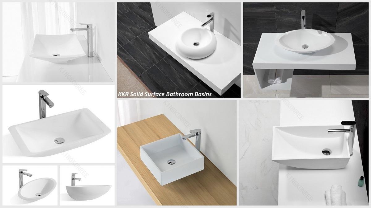Wholesale Corian Cabinet Bathroom Wash Basin - China Bathroom Wash ...