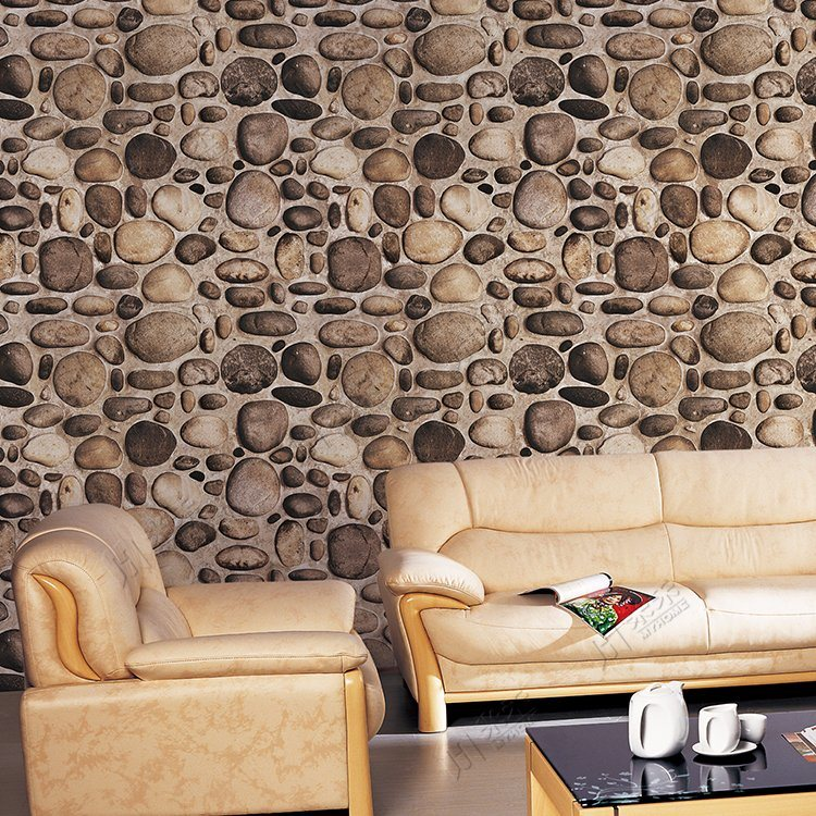 River Stone Design Home Decoration Living Room 3d Wallpaper China