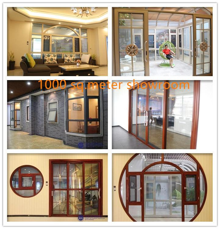 Aluminium Profile Sliding Soundproof Doors With Double Glass Shutter