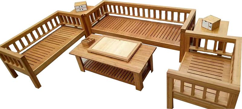 Bamboo Living Room Furniture China, Bamboo Sofa Set