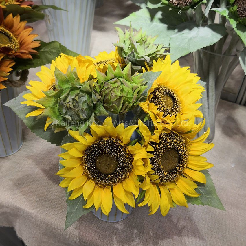 Lifelike Faux Flower Bouquet Home Decoration Artificial Sunflower Flower For Sale China Artificial Sunflower Flower And Artificial Flower Price Made In China Com