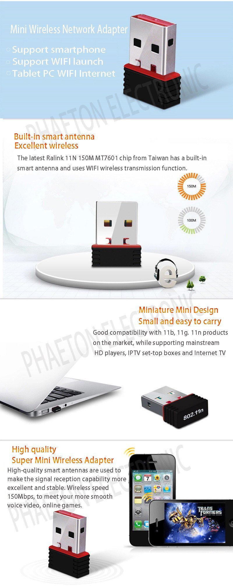 Wireless Network Dongle Mini Usb Wifi Adapter Mt7601 China 11n 150mbps Q1are