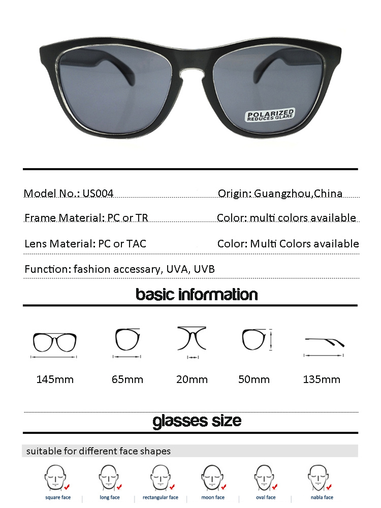 ba25fe636a Fashion Customized Big Branded Sunglasses with Polarized Lenses 2018 ...