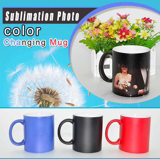 usine directement 11oz mug sublimation de la chaleur appuyez sur magic 11oz chaning couleur mug. Black Bedroom Furniture Sets. Home Design Ideas