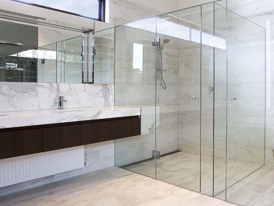 Frameless Bathroom Tempered Glass Shower Door with En12150