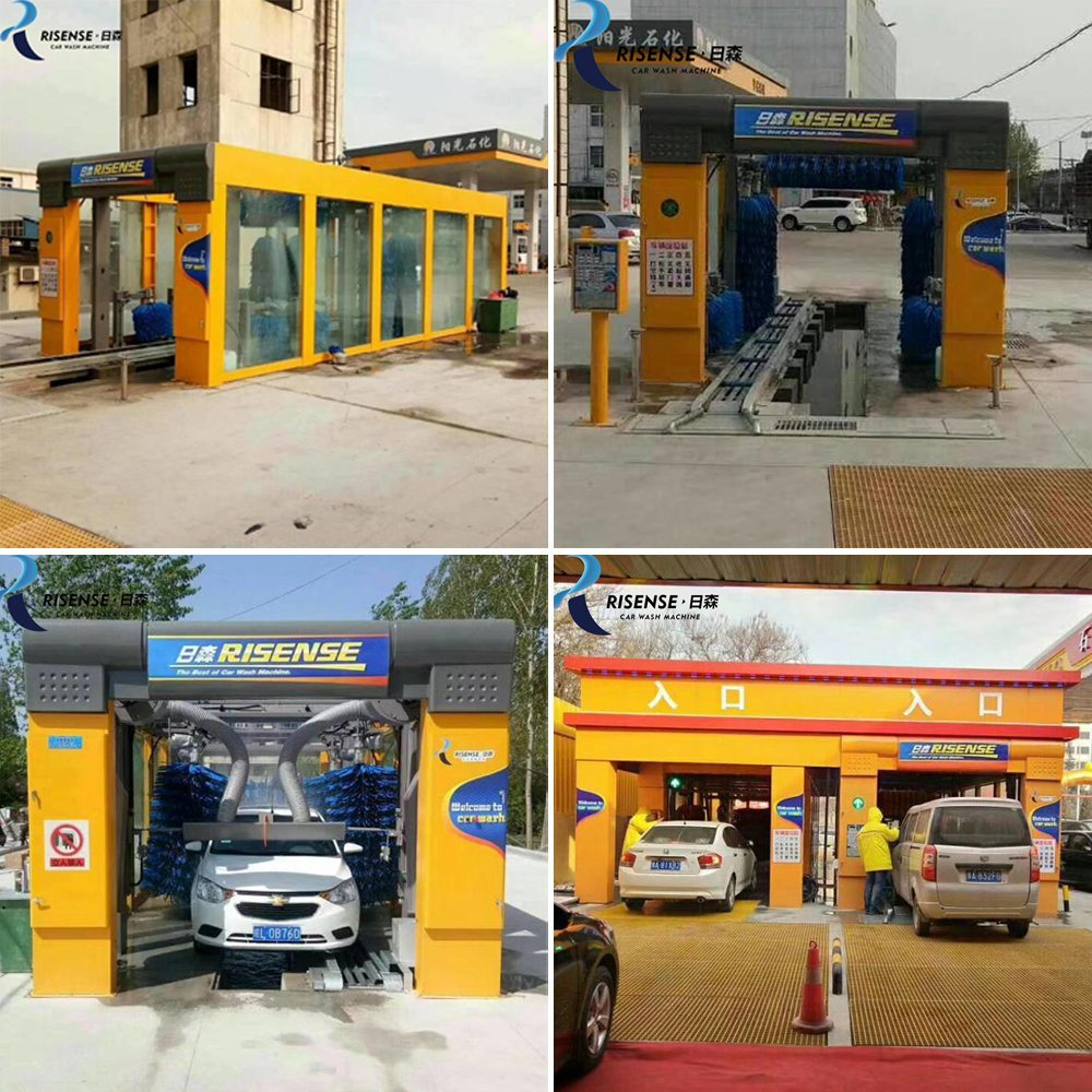 Drive Through Automatic Tunnel Car Wash Price with 9 Brushes