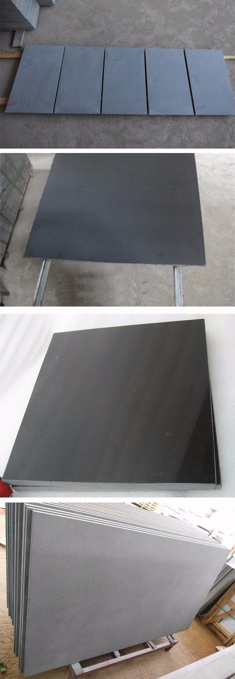 Polished Olivine Basalt Co : 운전사 포장 기계를 위한 자연적인 갈린 polished 현무암 청색 돌