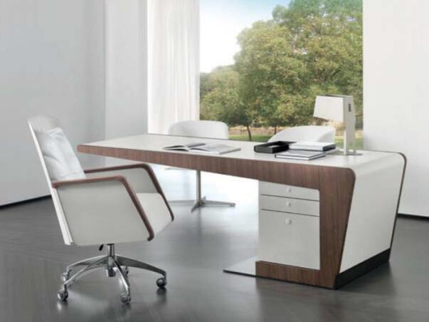 [Hot Item] 2016 Modern Style Luxury Fancy Managing Work Bench White High  Gloss Italian Laptop Office Computer Desk with Drawers