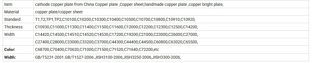 High Purity Cheap Price Top Quality Copper Cathode for Sale