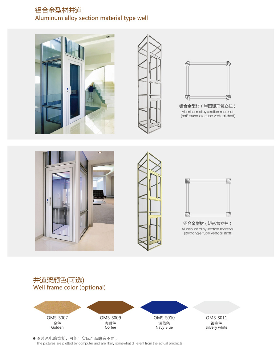 Home Lift With Beautiful Decoration China Elevator Wiring Diagram Function Table