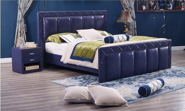 China OEM armazón de madera tapizado de la cama para el hogar ...