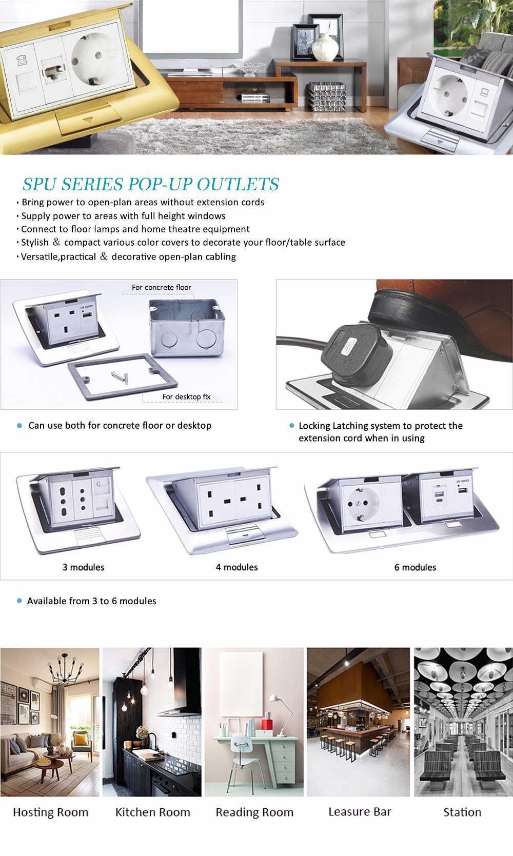 Floor Power Box Pop up Assembly Kit by Electrical Outlet ...