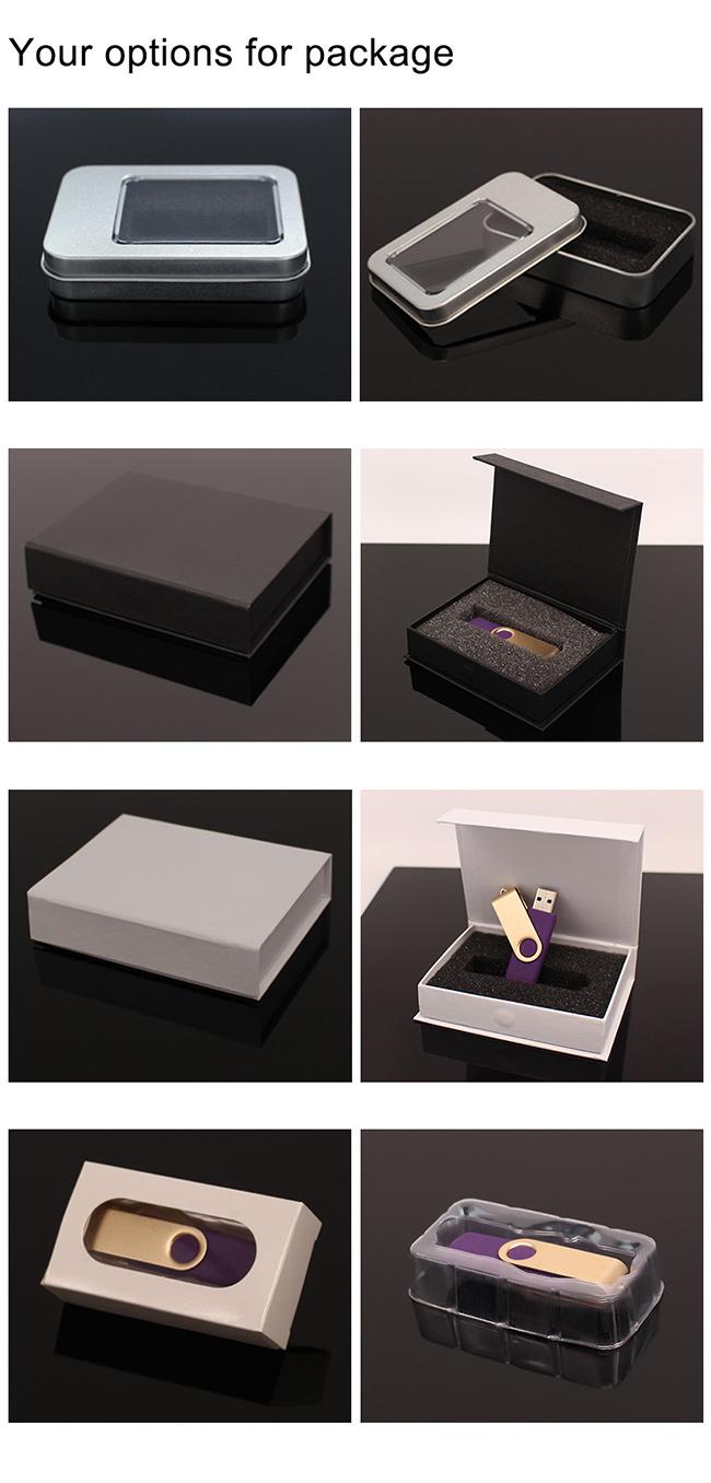 Swivel/Twist Metal Promotion Gift OEM Logo Printing USB Flash Drive (UL-M004)