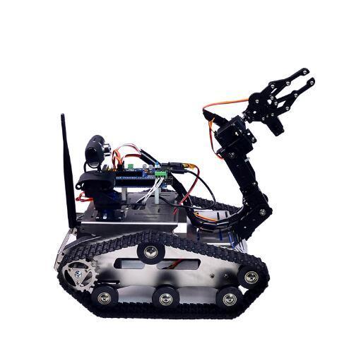 [Hot Item] Smart Robot Tank Avoiding Obstacle DIY Compatible Arduino  Platform WiFi Video Robot Car
