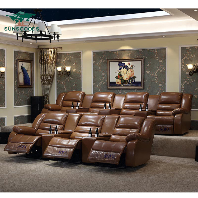 Modern Style Home Theater Leisure Sofa, Home Theater Couch Living Room Furniture