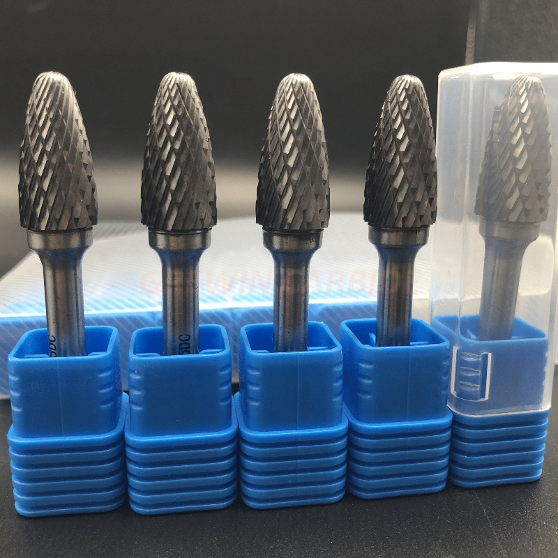 Carbide Bur Bit file  SC14 Single Cut 3//16 Cylindrical w// Round Nose