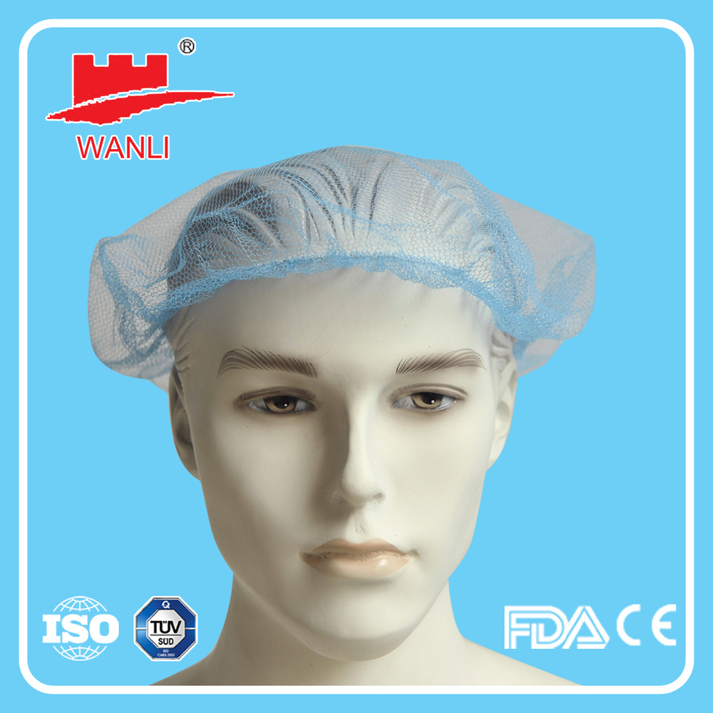 Disposable Nylon Mesh Hair Nets Medical Food Service Nylon Hair Net Cap